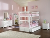 Columbia Twin/Twin White Bunk Bed Atlantic Bedroom Furniture
