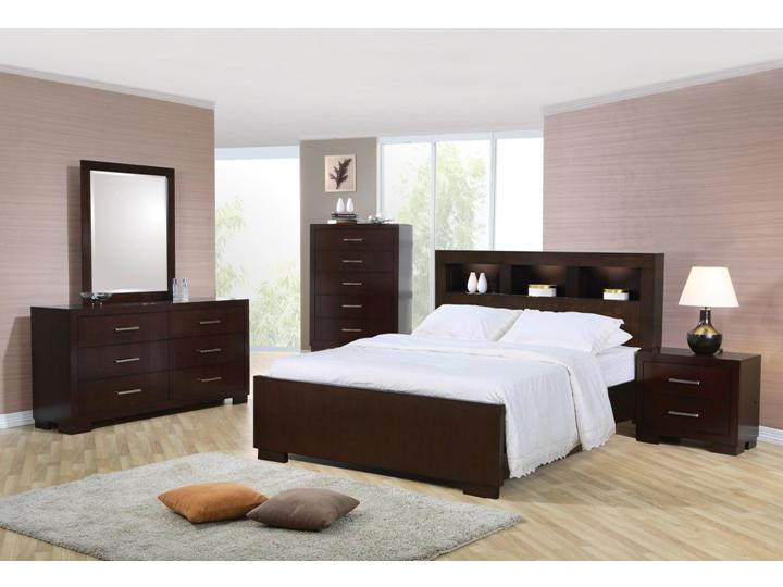 Awesome Contemporary 4 PC Jessica Queen Bedroom With Storage Headboard And Built In  Lighting