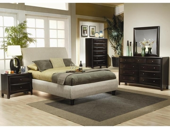 Contemporary 4PC Phoenix Set Upholstered Bed