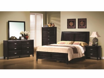 Contemporary 4 PC Nacey Queen bedroom Furniture