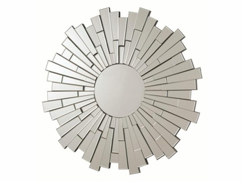 Contemporary Accent Frameless Round Mirror