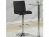 Contemporary Adjustable Black Stool