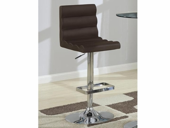 Contemporary Adjustable Brown Stool with Roll Back