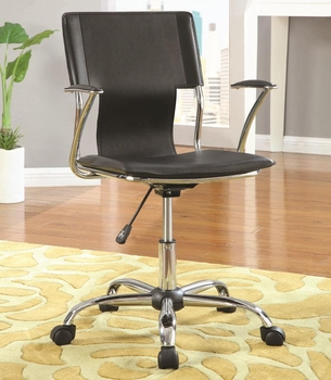 Contemporary Adjustable Height Black Task Chair