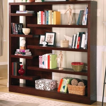 Contemporary Asymmetrical Bookcase