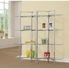 Contemporary Bookcase with Open Glass Shelves