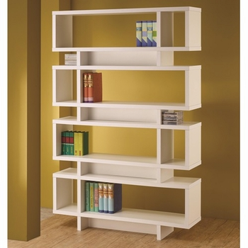 Contemporary Finish Open Bookcase