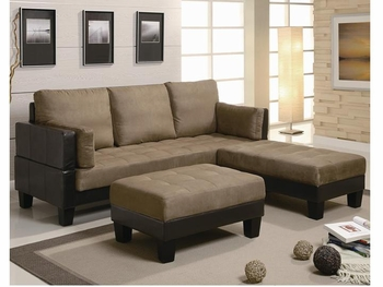 Contemporary Fulton 300160 Sofa Bed Group with 2 Ottomans