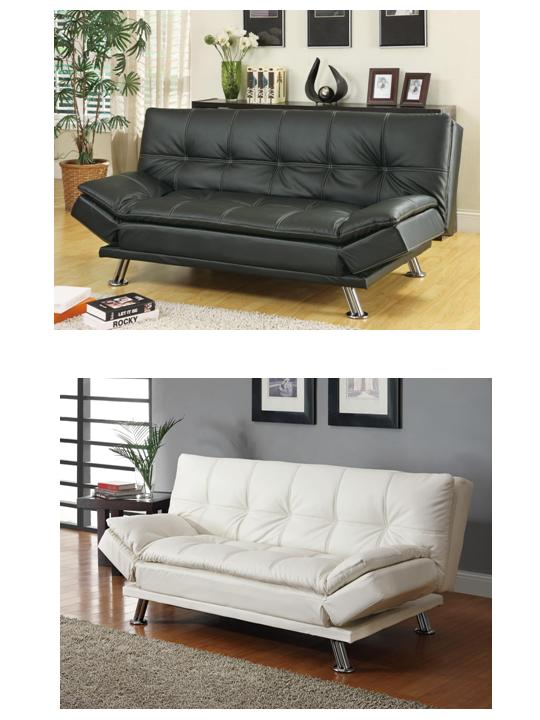 Modern Futon Sofa Beds Futons DC Furniture 300281 Coaster Stores