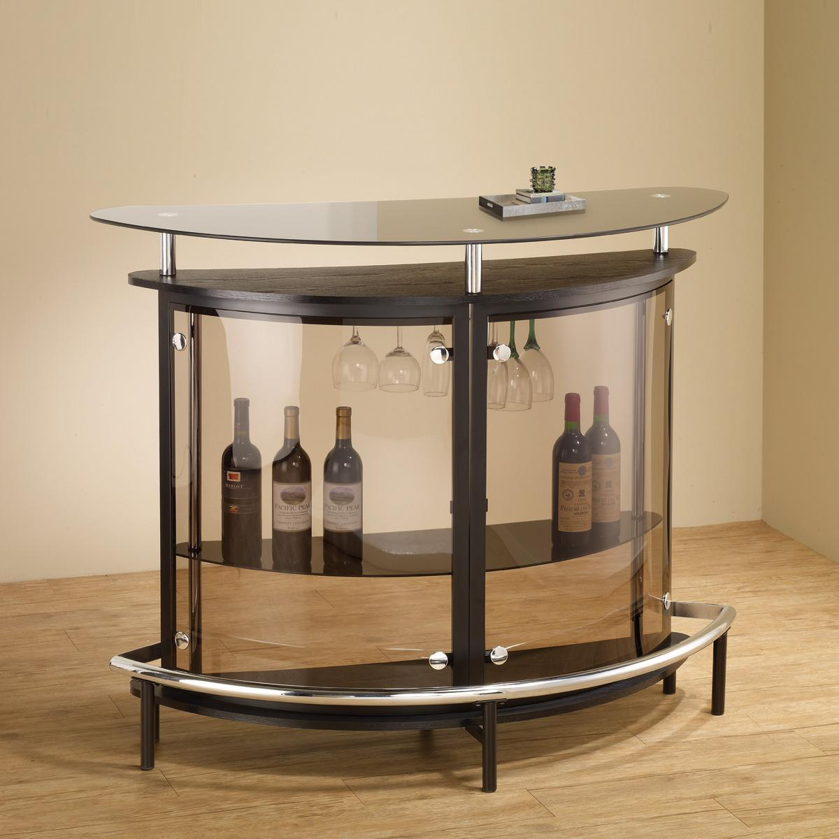 Incroyable Contemporary Glass Small Bar Unit DC Furniture