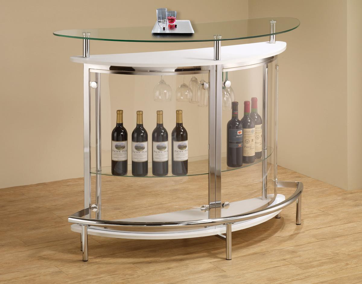 Modern Small Glass Bar Table Unit Va Furniture