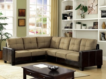 Contemporary Lavena Sectional two tone