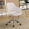 Contemporary Office Chair with Leatherette Seat