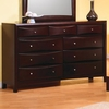 Contemporary Phoenix 9 Drawer Dresser