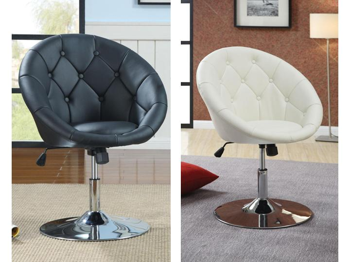 Contemporary Round Tufted Bar Stools Swivel Chair