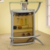 Silver Metal Bar Unit with Glass Top # 100135
