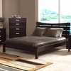 Contemporary Stuart Queen Platform Bed with Slat Headboard