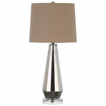 Contemporary Table Lamp with Cream White Shade