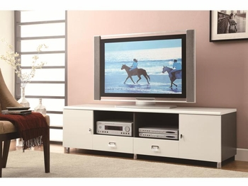 2-Drawer TV Console White And Grey # 700910