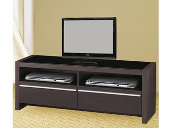 Contemporary TV Media Stands with Shelves and Drawers
