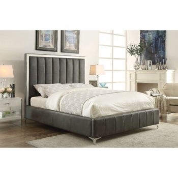 Contemporary Upholstered Queen Bed #300637Q