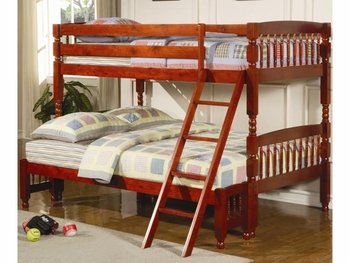 Coral Traditional Twin/Full Bunk Bed Children Bedroom