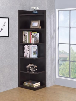 Corner Bookcase with Open Side