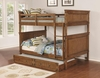 Coronado Bunk Bed Casual Wooden Full over Full Bunk Bed with Trundle Unit