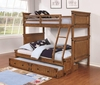 Coronado Bunk Bed Casual Wooden Twin over Full Bunk Bed with Trundle Unit