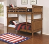Coronado Bunk Bed Casual Wooden Twin over Twin Bunk Bed