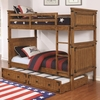 Coronado Bunk Bed Casual Wooden Twin over Twin Bunk Bed with Trundle Unit