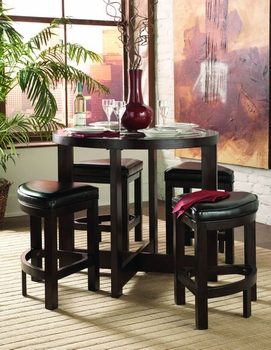 5 PC Counter Highet Set, Counter height table and 4 stools