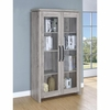 2-Door Tall Cabinet Grey Driftwood # 950783