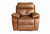 Damiano Casual Faux Leather Reclining Chair with Button Tuft Detailing