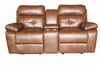 Damiano Casual Faux Leather Reclining Loveseat with Button Tuft Detailing and Cupholder Storage Console