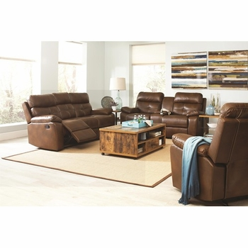 Damiano Casual Faux Leather Reclining Sofa 601691