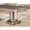 Danette Double Pedestal Dining Table with Leaf