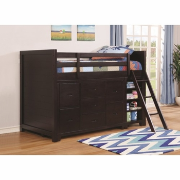 Danville Twin Loft Bunk Bed w/ Storage Pieces