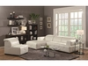Darby Contemporary Sectional Sofa with Wide Chaise and Adjustable Headrests