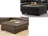 Darie Leather Cocktail Ottoman with Tufting