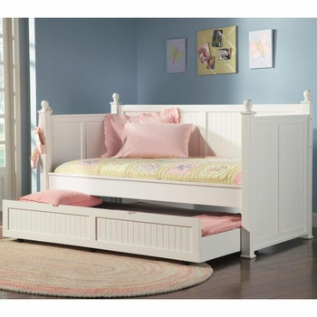Twin 300026 Daybed With Trundle White