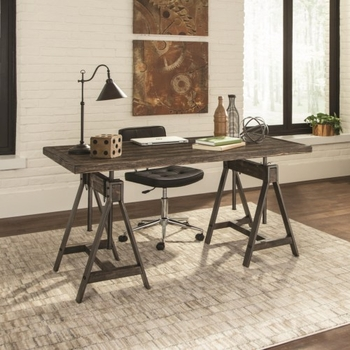 Deponte Industrial Adjustable Writing Desk by Scott Living