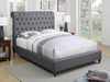 Devon California King Upholstered Bed in Beige Fabric