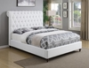 Devon King Upholstered Bed in Beige Fabric