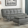 Dilleston Sofa Bed in Futon Style with Chrome Legs