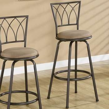 "Dining Chairs and Bar Stools 29"" Metal Bar Stool with Upholstered Seat"