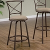 "Dining Chairs and Bar Stools 24"" Metal Bar Stool with Upholstered Seat"