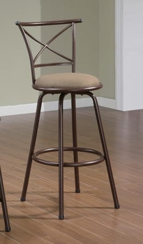 """Dining Chairs and Bar Stools 29"""" Metal Bar Stool with Upholstered Seat"""