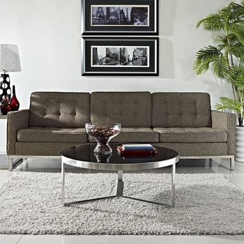 DISK COFFEE TABLE IN BLACK