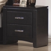 Dylan Faux Leather 2 Drawer Nightstand